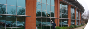 commercial window cleaning by Nye